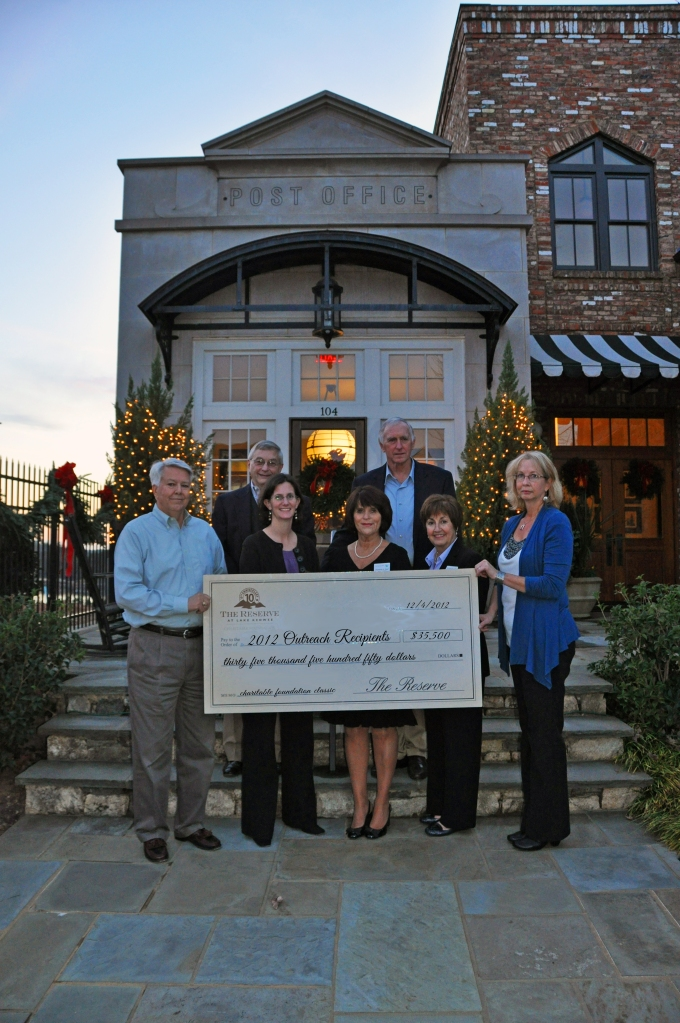 2012 Charitable Foundation Outreach recipients - The Reserve at Lake Keowee